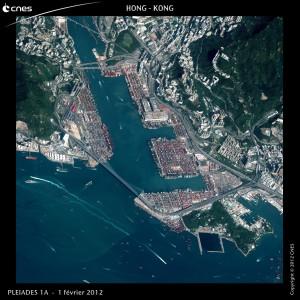 Hong-Kong vu par le satellite Pléiades 1A. Copyright : CNES