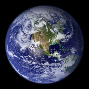 Global West, The Blue Marble. Credit : NASA Goddard Space Flight Center Image