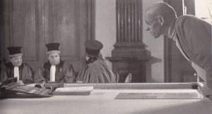 """Foucault sur le tournage de """"Moi Pierre Rivière..."""", René Allio/DR (source : Michel Foucault, Une histoire de la vérité, Paris: Syros, 1985, p. 43)"""