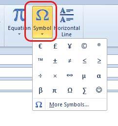 /, (, ©, « », , [AIME] : la virtuosité conceptuelle assistée par traitement de texte (source : copie d'écran Word 2010)