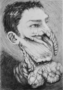 Portrait du doctorant en dindon de l'innovation (Copyright : Thomas Daeffler, 2013)
