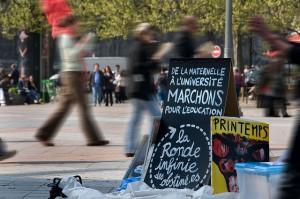 Ronde infinie des obstinés, 13 avril 2009 (Copyright : Alain Bachellier, via Flickr)