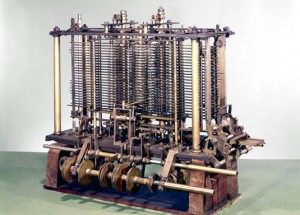 D'une incalculable complexité mécanique : la machine analytique de Charles Babbage (1871) (crédits : sciencemuseum.org.uk)