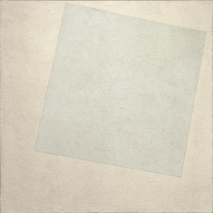 Carré blanc sur fond blanc (1918), par Kazimir Malevich (crédits : moma.org)