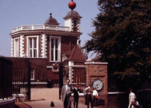 Greenwich Observatory vers 1960 (crédits : Wikimedia Commons).
