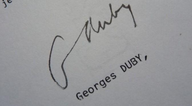 L'en-deçà de l'œuvre: les archives de Georges Duby ou le travail reconstitué de l'historien. Compte rendu et entretien flash avec Patrick Boucheron