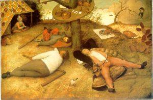 Le Pays de Cocagne, 1567, par Pieter Bruegel l'ancien (source : Wikimedia Commons)